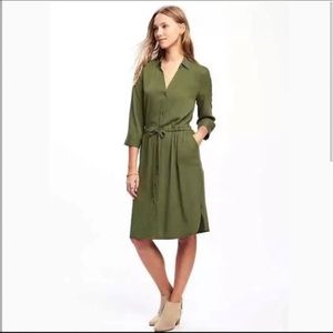 💚Old Navy Button down Army Green Dress💚